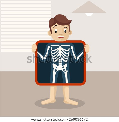 vector x ray flat illustration