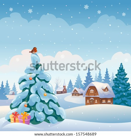 vector xmas greeting card with