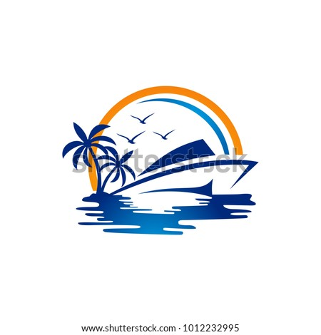 vector yacht club logo design