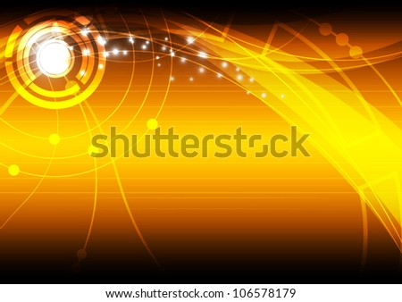 vector yellow abstract communication background design