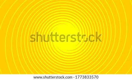 Vector - Yellow abstract vortex background. Bursting, Radial, radiating pattern.Free space in a center. Photo stock ©