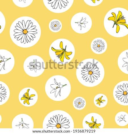 vector yellow background white