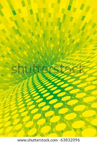 Vector yellow halftone - color can be changed