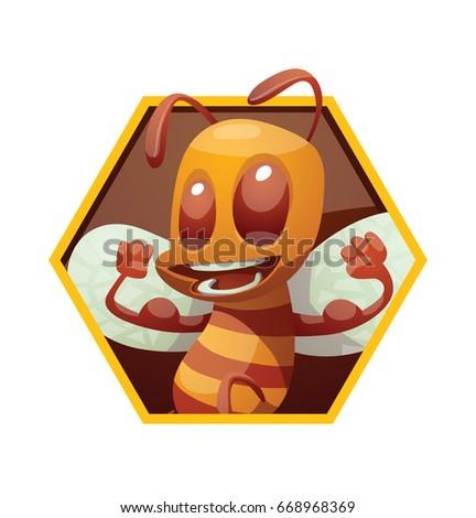 vector yellow honeycomb frame