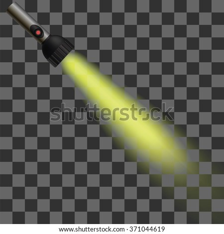 Vector Yellow Light of Torch Photo stock ©