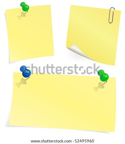 Vector yellow sticky note