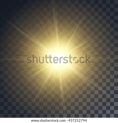 vector yellow sun with rays and