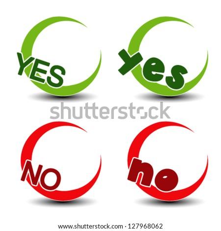 Vector yes no symbol - positive negative icon