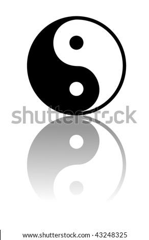 Stock Photo Vector Yin and Yang i-ching illustration