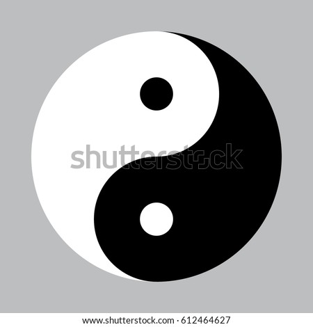 vector yin yang symbol without