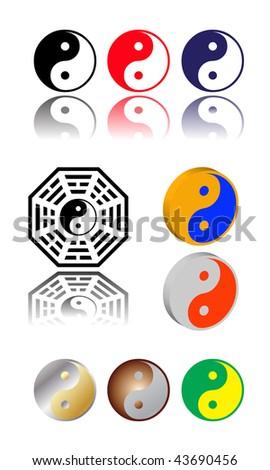 vector ying yang symbol