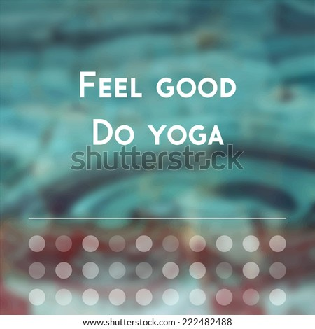 Vector yoga illustration. Abstract fantasy yoga background. Poster for yoga studio on an abstract background.  Yoga sticker for yoga class or yoga center. Yoga exercises, healthy lifestyle.