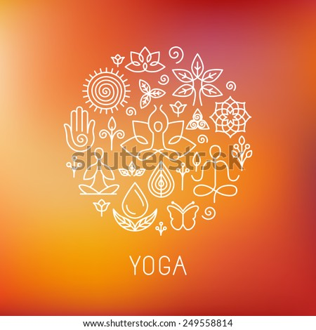 vector yoga logo   icons and