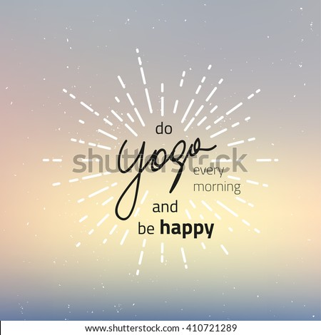 vector yoga motivation banner