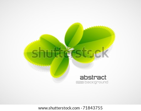 Vector young plant