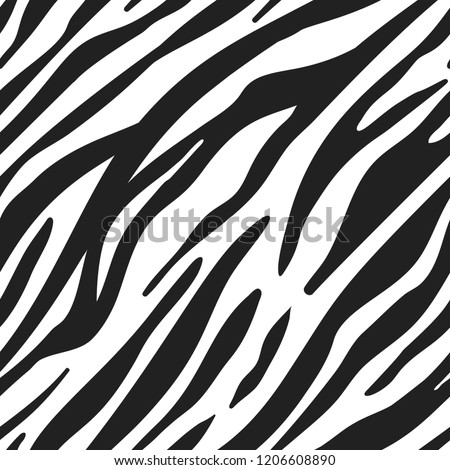 Vector zebra animal seamless pattern.