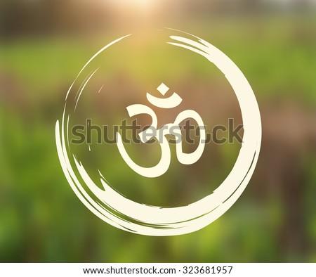 vector zen circle with om symbol