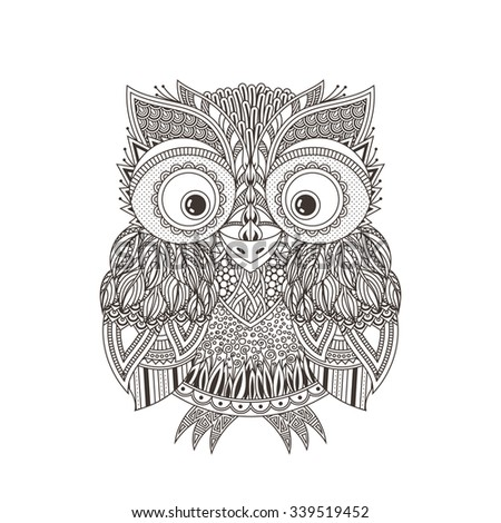 vector zentangle owl