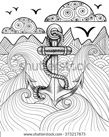 vector zentangle print for