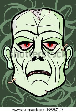 vector zombie head