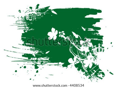 Vectorfleck mit Blumenornamenten Stock foto ©