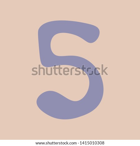 Vectorized image of number the number five