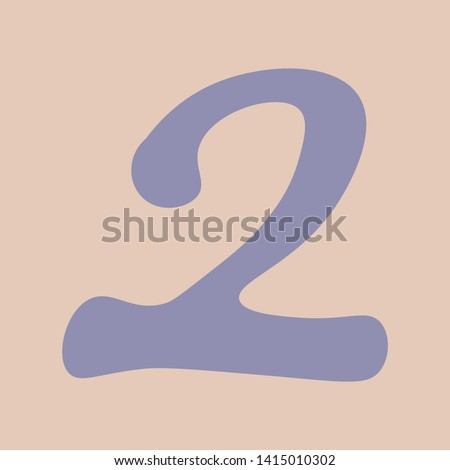 Vectorized image of number the number two