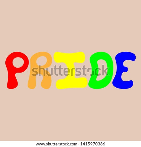 Vectorized image of the word pride.