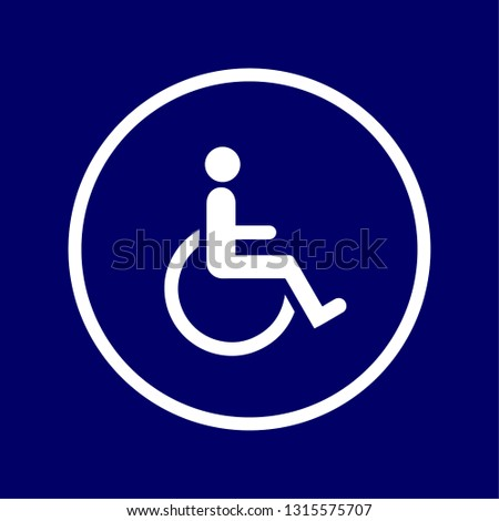Vectorized sign of the motor or physical disability symbol,
