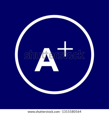 Vectorized sign of the symbol of There are elements with enlarged letter or optical aids
