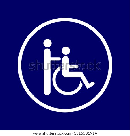 """vectorized signal of """"motor or physical disability (when help is needed)"""""""