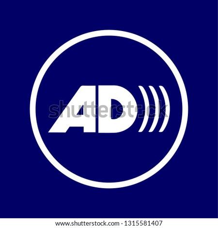 "vectorized signal of the ""there Audio Description"" symbol"
