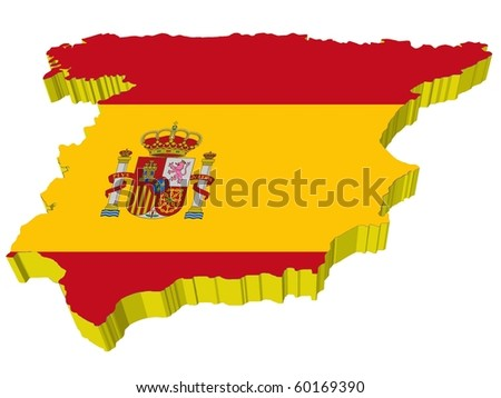 vectors 3D map of Spain