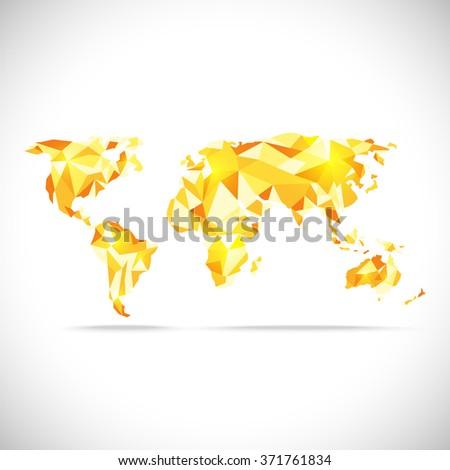 vectors world map polygonal