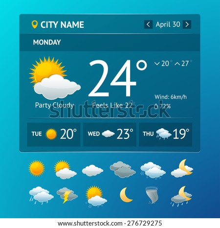 vectot illustration weather...