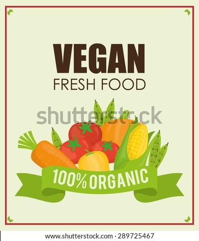 Vegan Food digital design, vector illustration eps 10. #289725467