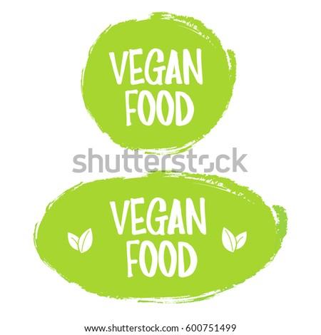 Vegan food. stamp. sticker