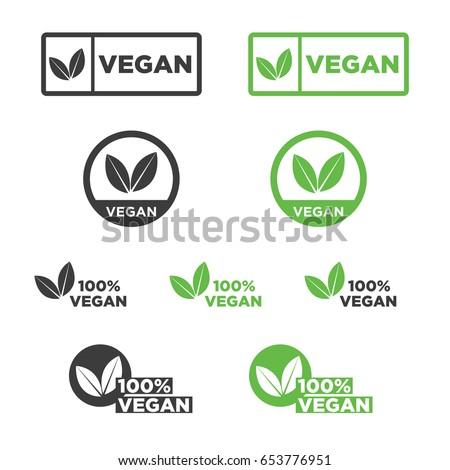 Vegan icon set.