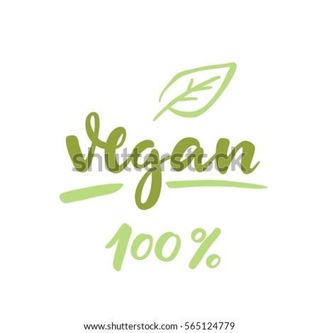 vegan vector lettering
