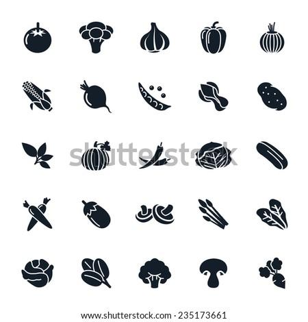 Vegetable icon on White Background Vector illustration