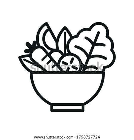 Vegetable Salad Meal Symbol Icon Foto d'archivio ©