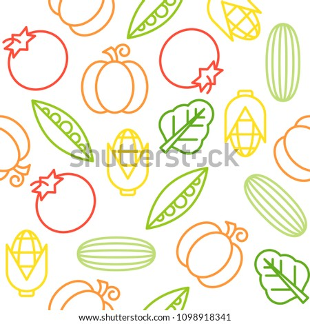 Vegetable seamless pattern, for use as wallpaper or wrapping paper