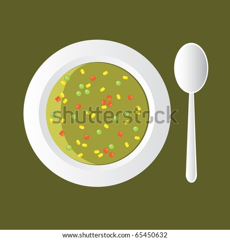 vegetable soup - with corn, carrot and pea