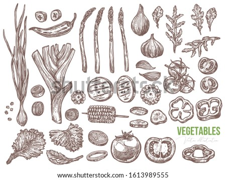 vegetables and organic healthy