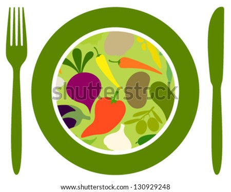 vegetables food icon