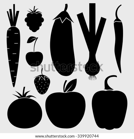vegetables  fruits and berries