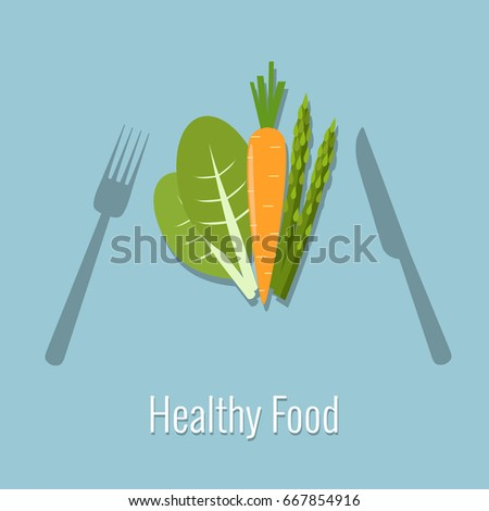 Vegetables. Healthy food vector illustration.