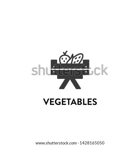 vegetables icon vector. vegetables vector graphic illustration #1428165050