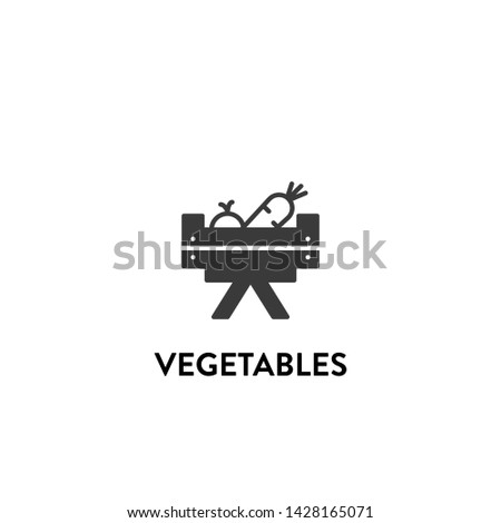 vegetables icon vector. vegetables vector graphic illustration #1428165071