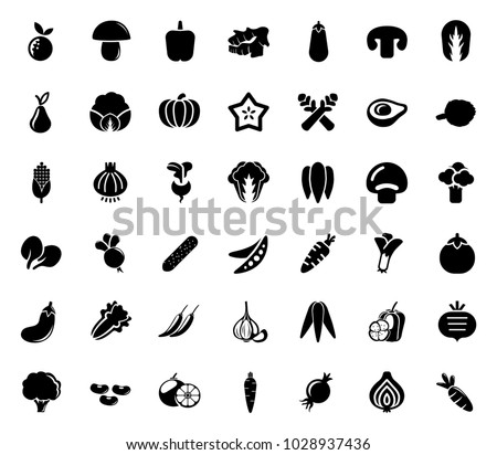 Vegetables Icons set #1028937436